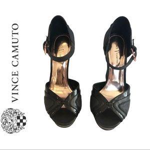Vince Camuto Platform Heel Sandals Black size 7